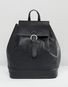 Рюкзак с застежкой на пряжку Pieces - Черный