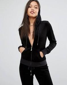 Велюровый худи Juicy Couture - Черный