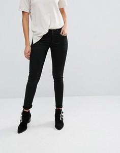 Зауженные джинсы с покрытием Replay Hyperflex - Черный
