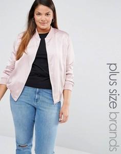 Атласная куртка‑пилот Missguided Plus - Фиолетовый