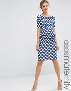 Платье для беременных в горошек с рукавами до локтя ASOS Maternity - Мульти