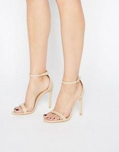 Бежевые сандалии на каблуке Public Desire Avril - Бежевый