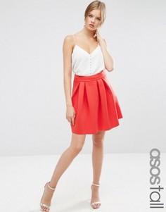 Мини-юбка для выпускного ASOS TALL - Красный