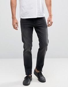 Черные выбеленные укороченные джинсы слим плотностью 12,5 унции ASOS - Черный