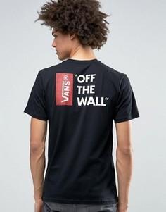 Черная футболка Vans Off The Wall V5Y0BLK - Черный