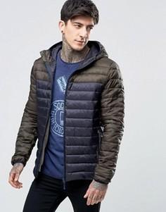 Темно-синяя стеганая куртка колор блок Scotch & Soda - Темно-синий