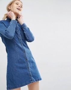 Джинсовое платье‑рубашка Dr Denim Fonda - Синий