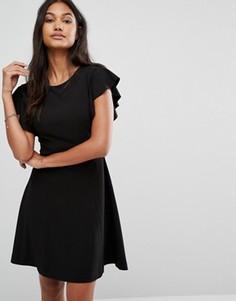 Платье с оборками и открытой спиной Supertrash Dihab - Белый