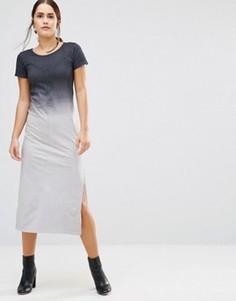 Платье-футболка макси с эффектом омбре Uncivilised Canyon - Серый