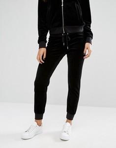 Велюровые джоггеры Juicy Couture Bling - Черный