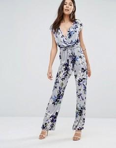 Комбинезон с цветочным принтом Uttam Boutique - Серый