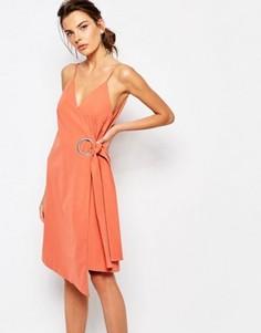 Платье с запахом и кольцами C/meo Collective On The Line - Красный