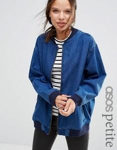 Джинсовая куртка‑пилот в стиле oversize ASOS PETITE - Синий