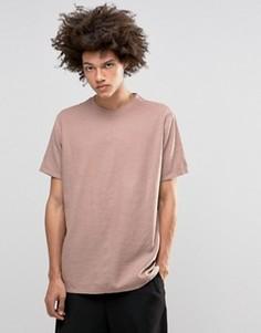 Розовая меланжевая футболка ASOS - Розовый
