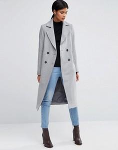 Полушерстяное пальто ASOS - Серый