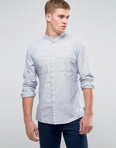 Рубашка классического кроя с воротом на пуговице Esprit - Серый