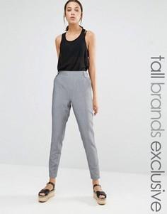 Узкие брюки с пуговицами в стиле милитари Y.A.S Tall Push - Серый