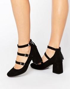 Туфли на среднем каблуке с ремешками Office Marty - Черный
