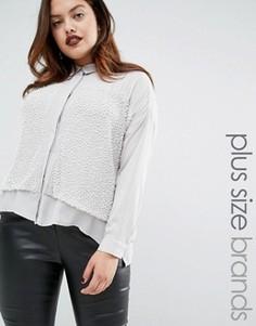 Декорированная рубашка Elvi Premium - Белый