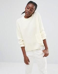Трикотажный джемпер с карманом Monki - Белый