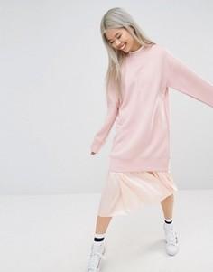 Удлиненный свитшот STYLENANDA - Розовый