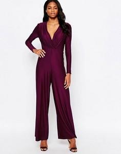 Комбинезон с широкими штанинами AX Paris - Фиолетовый