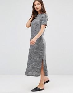 Облегающее трикотажное платье b.Young - Серый