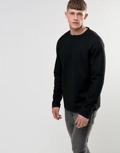 Шерстяной свитшот Bellfield - Черный
