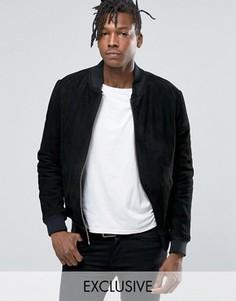 Замшевая куртка‑пилот Black Dust - Черный