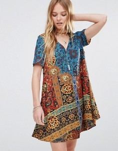 Свободное платье Ebonie n Ivory Mimosa - Мульти