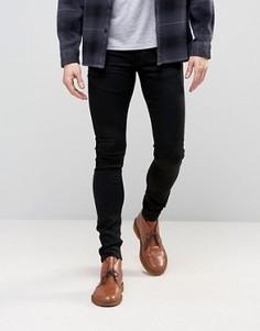 Ультразауженные черные джинсы скинни ASOS - Черный