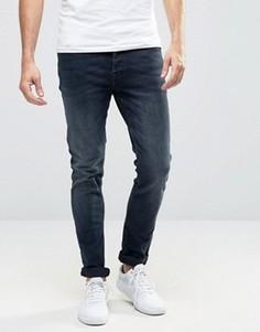 Выбеленные джинсы слим цвета индиго Only & Sons - Синий