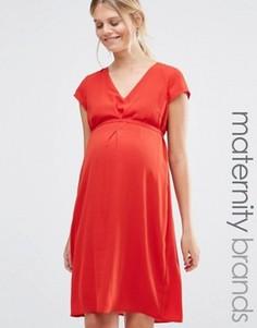 Платье с короткими рукавами Mamalicious - Красный Mama.Licious