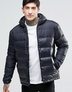 Стеганая куртка с капюшоном Fat Moose Cosmo - Черный