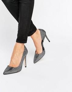 Кожаные туфли-лодочки с вырезами Dune Courtnie - Серебряный