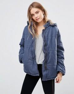 Стеганая джинсовая куртка Free People - Синий