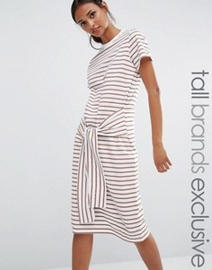 Трикотажное платье с поясом Daisy Street Tall - Мульти
