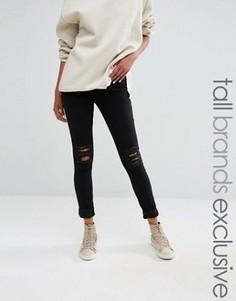 Рваные джинсы скинни Daisy Street Tall - Черный