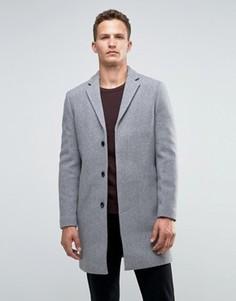 Кашемировое пальто Selected Homme - Серый