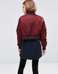 Хлопковая куртка со спинкой в стиле куртки‑пилот ASOS - Мульти