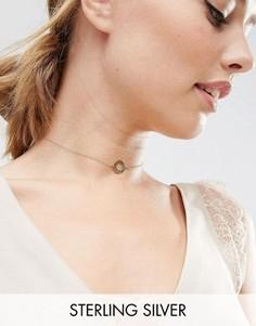 Ожерелье-чокер из позолоченного серебра с филигранными дисками ASOS - Золотой