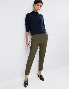 Фактурные брюки слим ASOS Premium - Зеленый