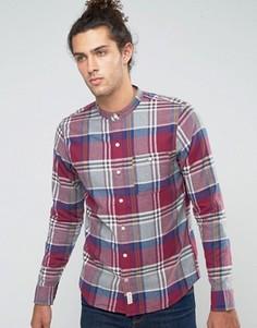Фланелевая рубашка на пуговицах узкого кроя в шотландскую клетку Hollister - Синий