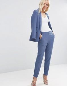 Приталенные брюки ASOS Premium - Синий
