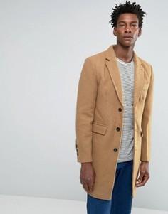 Светло-коричневое шерстяное пальто Bellfield - Бежевый