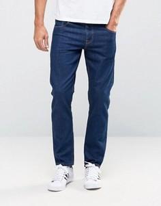 Темно-синие укороченные джинсы слим плотностью 12,5 унции ASOS - Синий