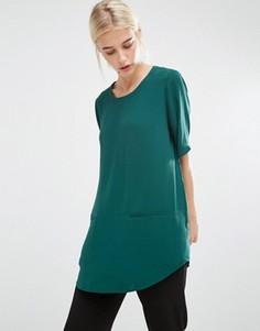 Удлиненный топ Monki - Зеленый