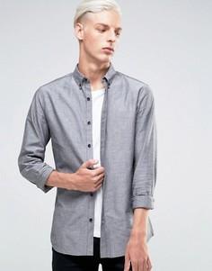 Оксфордская рубашка Troy - Черный