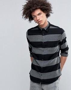 Черная фланелевая рубашка в широкую полоску Cheap Monday Bolt - Черный