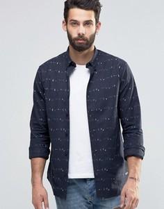 Оксфордская рубашка с принтом Only & Sons - Синий